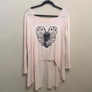 Open back long sleeve shirt from francesca